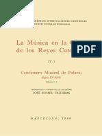 La Música en La Corte de Los Reyes Católicos. IV-1. Polifonía Profana. Cancionero Musical de Palacio (Siglos XV-XVI). Vol. 3-A