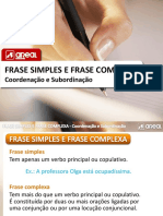 Frase Simples Complexa Coord Subord