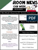 weekly newsletter  powerpoint  9