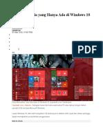 5 Fitur Rahasia Yang Hanya Ada Di Windows 10