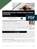 Dichiarazione Dei Redditi_ Sanzioni Per Omessa o Ritardata Presentazione - Fisco
