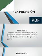 Prevision