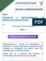 Técnicas e Instrumentos 2016-II