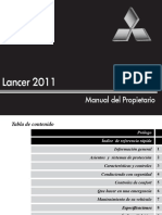 Manual Mitsubishi Lancer (2011)