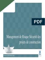 Formation FST - Management de Risque Sécurité Des Projets de Construction - 15012018