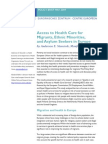 Access to Health Care for Migrants Ethnic Minorities and Asylum Seekers in EU