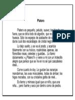 Lectura Platero