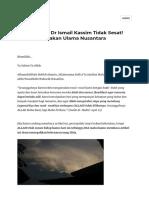 Bukti Sheikh Dr Ismail Kassim Tidak Sesat! Malah dimuliakan Ulama Nusantara