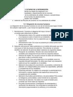 1.3 Etapas de La Integracion-1.4 Principios y Técnicas de La Investigación