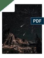 Meteor Shower in Wyoming