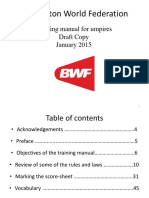 BWF Umpire Training Manual - January 2015