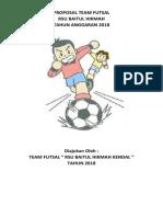 Proposal Permohonan Bantuan Team Futsal