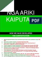 Nga Ariki Kaiputahi Constitution History and Whakapapa 2018