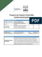 Proyecto de Creación Portal Web Teatro Novedades