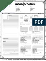 Crônicas de Avalon - Ficha de Personagem - Biblioteca Élfica.pdf