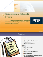 Organization Values & Ethics