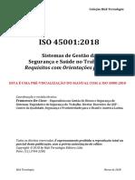 ISO 45001:2018 em Português -  Sistemas de Gestão da Segurança e Saúde no Trabalho