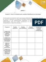 Anexo 1 - Paso 2 - Profundización Modelos Disciplinares en Psicología