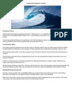 Contoh Teks Eksplanasi Tsunami, Banjir, Longsor, Gempa Bumi