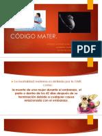Codigo Mater Presentacion