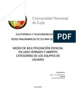 Multiplexacion Espacial Categorias UE