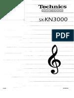 Technics Kn3000 User Manual