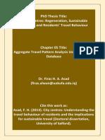 Travel Pattern Analysis Using TRICS Database