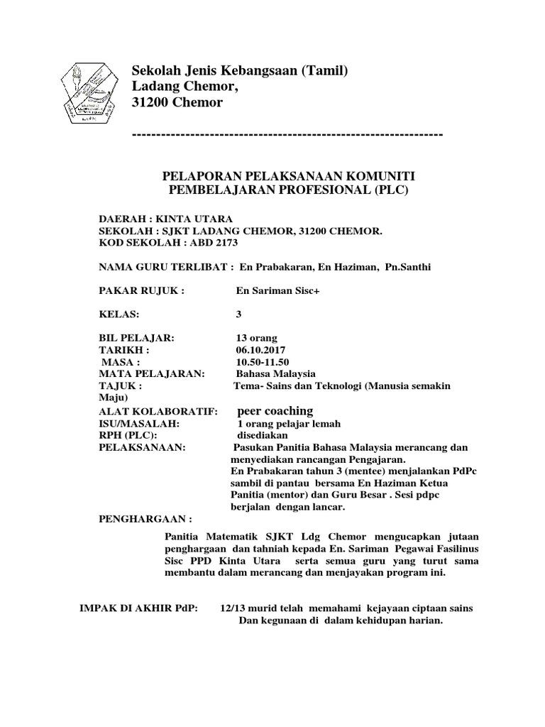 Laporan Plc 2 2017 Bahasa Malaysia