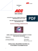 Field Report on ACC Working Capital