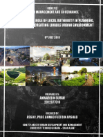 Urban Management And Governance - Developmental Role Of Local Authority In Planning, Managing And Creating Livable Urban Environment