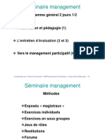 Seminaire Management