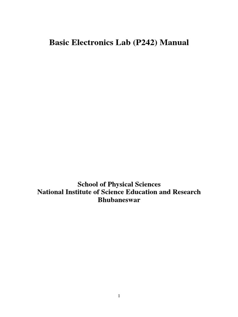 P242 Basic Electronics Lab Manual 2016 Rectifier Capacitor Electronic Mosquito Repeller Electronicslab