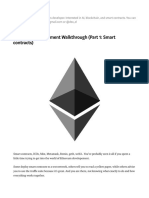 Ethereum Development Walkthrough