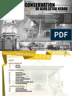 Urban Conservation and Management - Heritage Conservation of Alor Setar, Kedah (The Golden Memory)