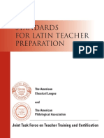 Lat Teach Prep Standards