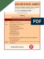 Salvemos Buenos Aires - Programa de eventos