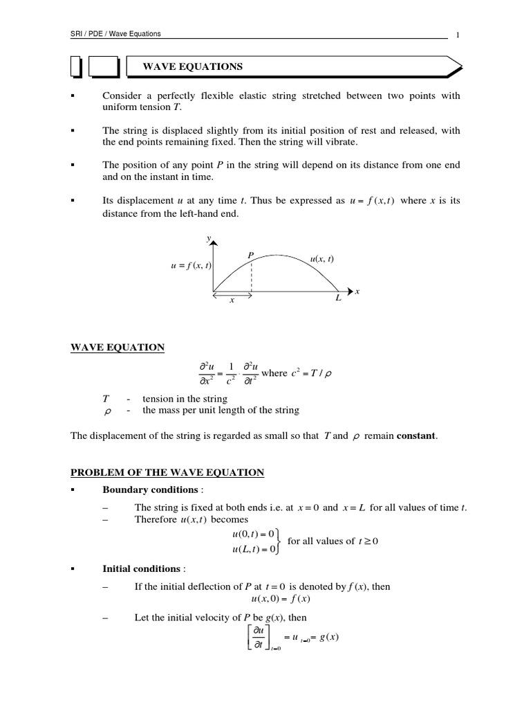 Wave Equation | Wave Equation | Sine