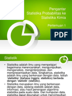 PPT Pengantar Statistika Prob Ke Statistika Kimia