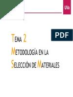 Tema 2. Metodologia en La Selección de Materiales