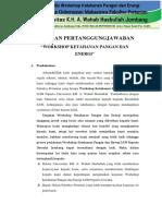 LPJ Workshop Ketahanan Pangan Energi