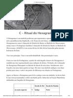 C – Ritual Do Hexagrama