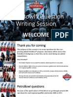 PetroBowl® Question Writing Presentation (Spreadsheet version)
