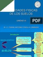 Edafología  I UNIDAD III Propiedades fisicas-2017