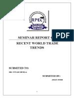 Seminar Report on Recent World Trade Trends