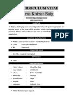 Cv Mirza Khizar Baig