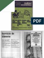 1973-08 Realidad Económica Nº 14