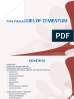 Pathologies of Cementum