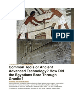 Common Tools or Ancient Advanced Technology How Did the Egyptians Bore Through Granite