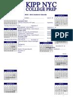 KIPP NYC College Prep Academic Calendar 2010-2011