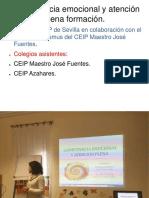 Formación  en  el CEIP Maestro José Fuentes sobre Competencia Emocional y Atención Plena.